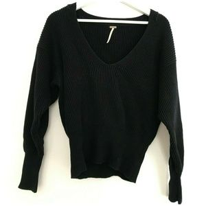 Free People Size Small V-Neck Sweater Women's